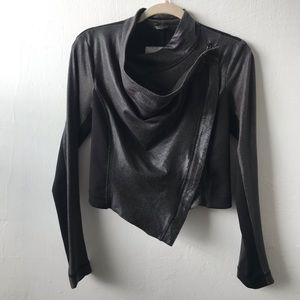 Rachel Roy Draped Zip Up Moto Jacket